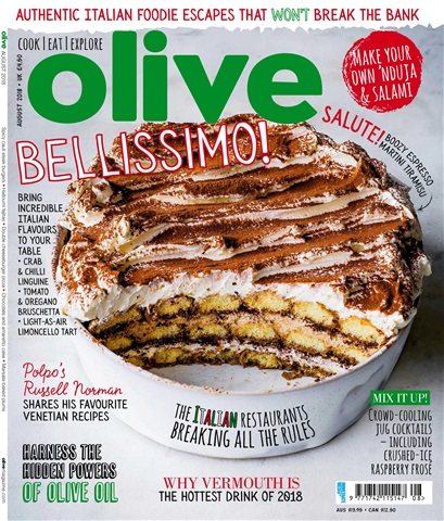 Olive Magazine issue August 2018