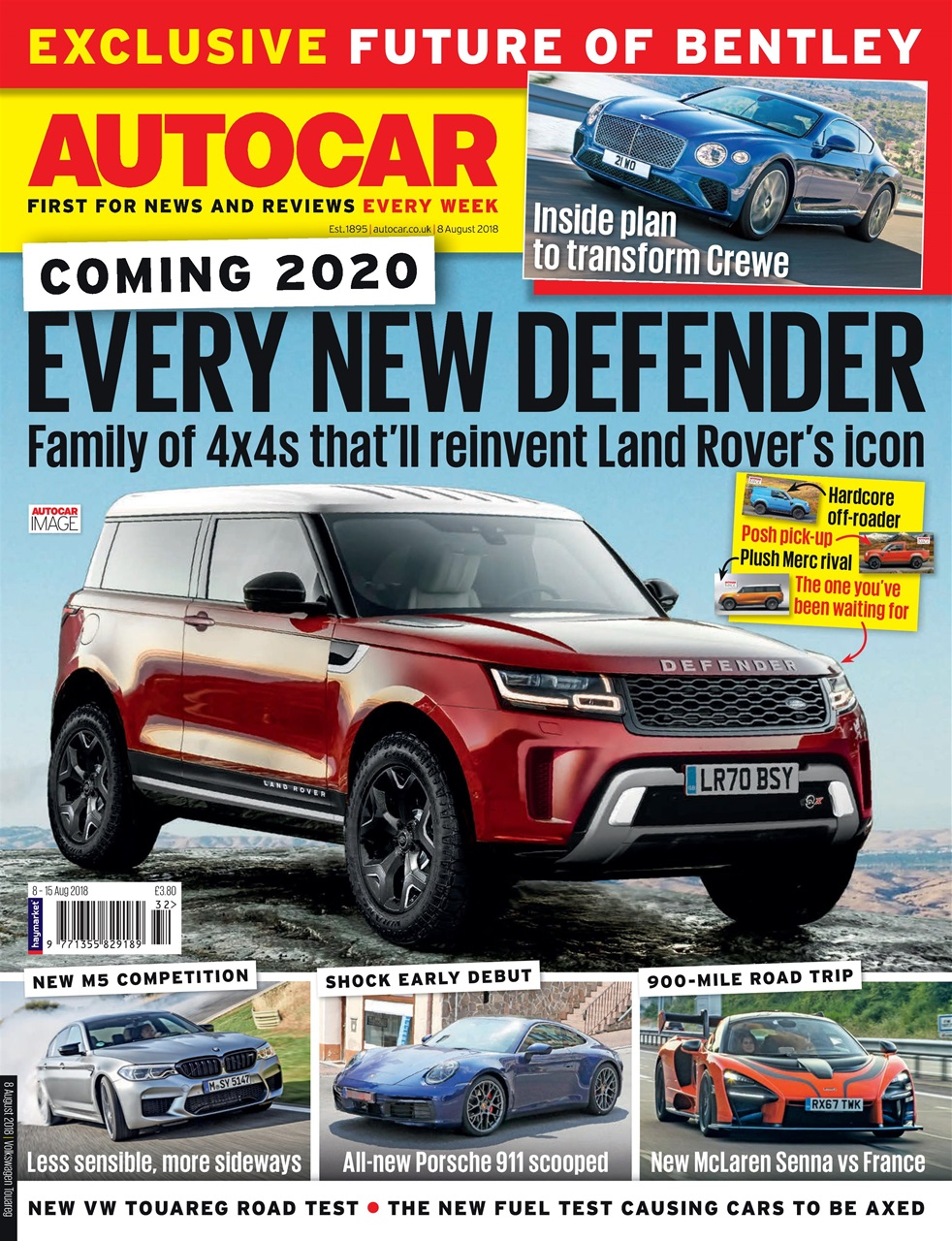autocar magazine - 8th august 2018 subscriptions | pocketmags