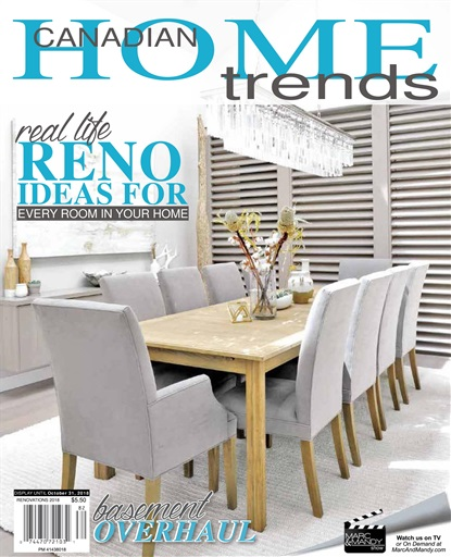 Canadian Home Trends Magazine Renovations 2018 Subscriptions