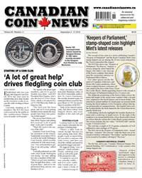 Canadian Coin News issue V56#11 - Sept 4