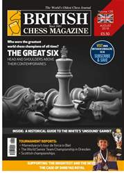 British Chess Magazine issue August 2018