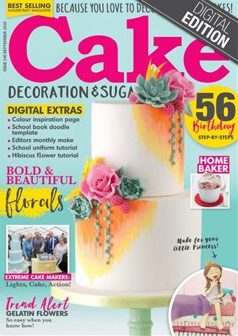 Cake Decoration & Sugarcraft Magazine issue September 2018