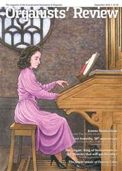Organists' Review issue September 2018