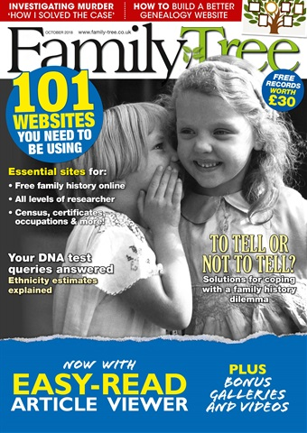 Family Tree issue Family Tree October 2018