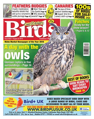 Cage & Aviary Birds issue 22nd August 2018