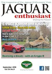 Jaguar Enthusiast issue September 2018