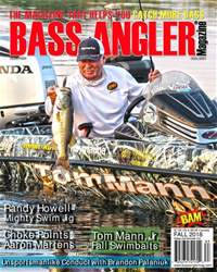 BASS ANGLER MAGAZINE issue Fall 2018