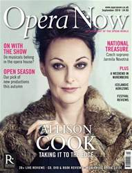 Opera Now issue September 2018