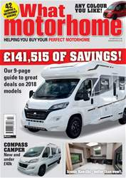 What Motorhome magazine issue The Amazing Savings issue - October 2018