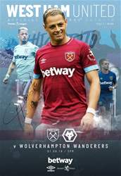 West Ham Utd Official Programmes issue Vs Wolverhampton