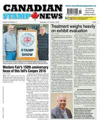 Canadian Stamp News issue V43#11 - Sept 18