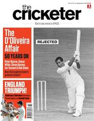The Cricketer Magazine issue September 2018
