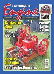 Stationary Engine issue November 2018