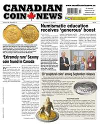 Canadian Coin News issue V56#13 - October 2