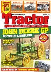 Tractor & Farming Heritage Magazine issue November 2018