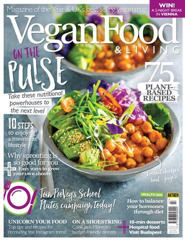 Vegan Food & Living Magazine issue Oct-18