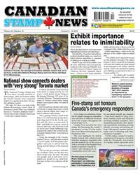 Canadian Stamp News issue V43#12 - October 2