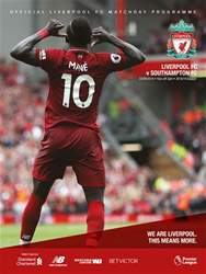Liverpool FC Programmes issue vs Southampton 18/19