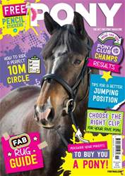 PONY Magazine – November 2018 issue PONY Magazine – November 2018