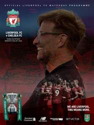 Liverpool FC Programmes issue vs Chelsea LC 18/19
