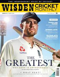 Wisden Cricket Monthly issue October 2018