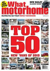 What Motorhome magazine issue Top 50 Motorhomes of 2019 - November 2018 issue