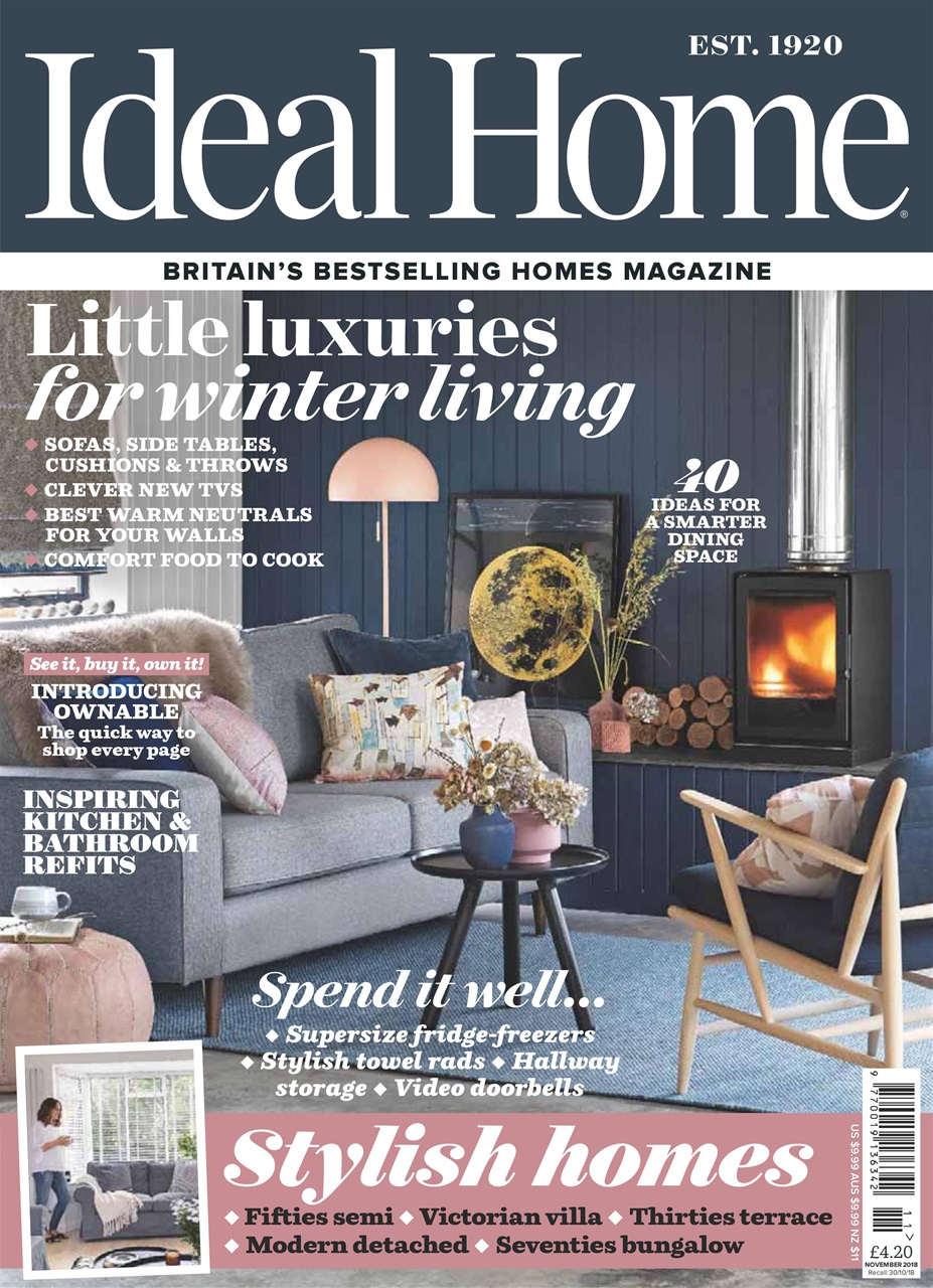 Ideal Home Magazine November 2018 Subscriptions Pocketmags