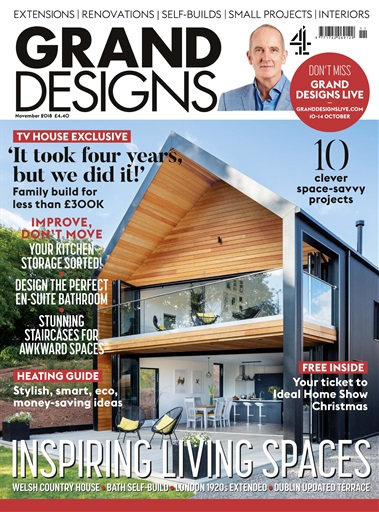 Grand Designs Magazine - November 2018 Subscriptions | Pocketmags