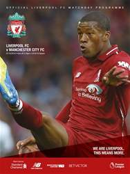 Liverpool FC Programmes issue vs Manchester City 18/19