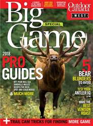 Outdoor Canada issue Big Game West