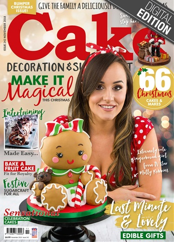 Cake Decoration & Sugarcraft Magazine issue November 2018
