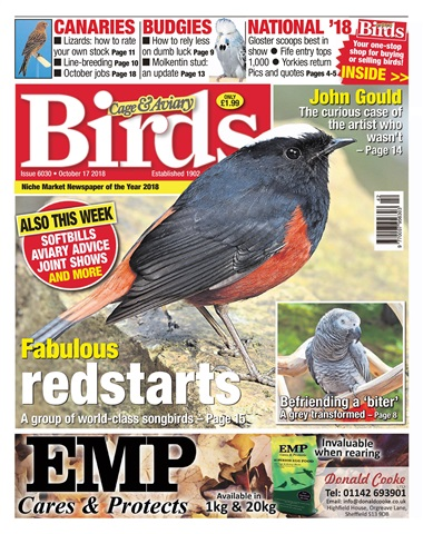 Cage & Aviary Birds issue 17th October 2018
