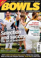 Bowls International issue   November 2018