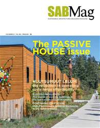 SABMag issue Fall 2018 - The Passive House Issue
