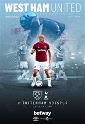 West Ham Utd Official Programmes issue Vs Tottenham Hotspur