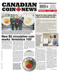 Canadian Coin News issue V56#16 - November 13
