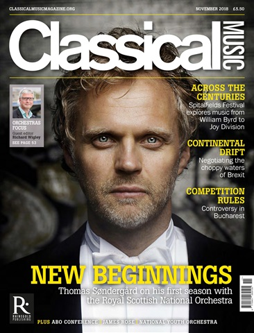 Classical Music issue November 2018