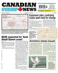 Canadian Stamp News issue V43#15 - November 13
