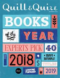 Quill & Quire issue December 2018