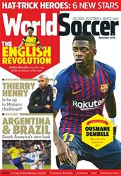 World Soccer issue November 2018
