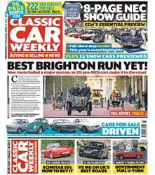 Classic Car Weekly issue 7th November 2018