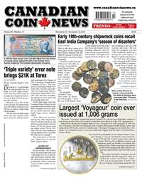 Canadian Coin News issue V56#17 - November 27