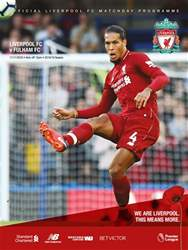 Liverpool FC Programmes issue vs Fulham 18/19