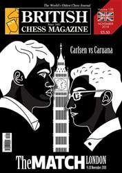 British Chess Magazine issue November 2018