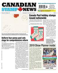Canadian Stamp News issue V43#16 - November 27