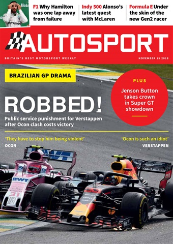 Autosport issue 15th November 2018