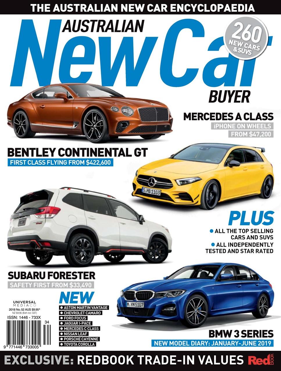 australian new car buyer magazine - dec issue#52 2018 subscriptions