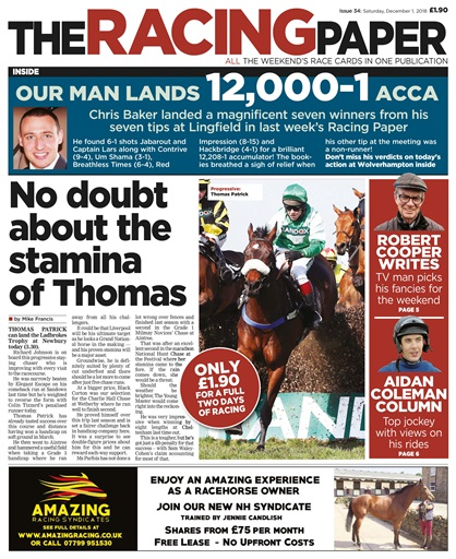 The Racing Paper Preview