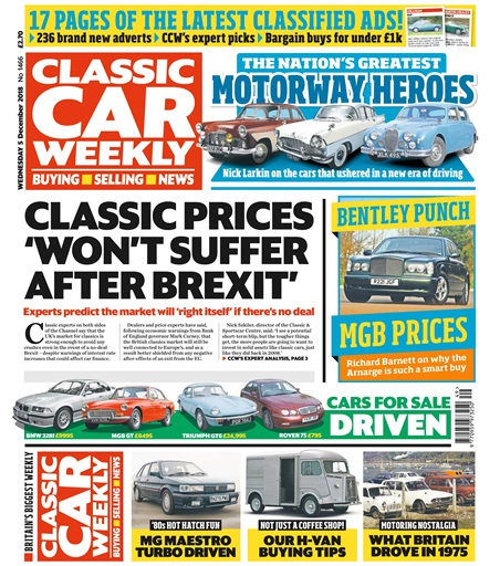 d33a602e3d Classic Car Weekly Magazine - 5th December 2018 Subscriptions ...