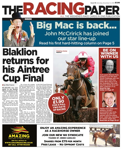 The Racing Paper Digital Issue